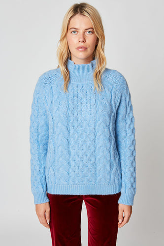 Knitted high-neck jumper