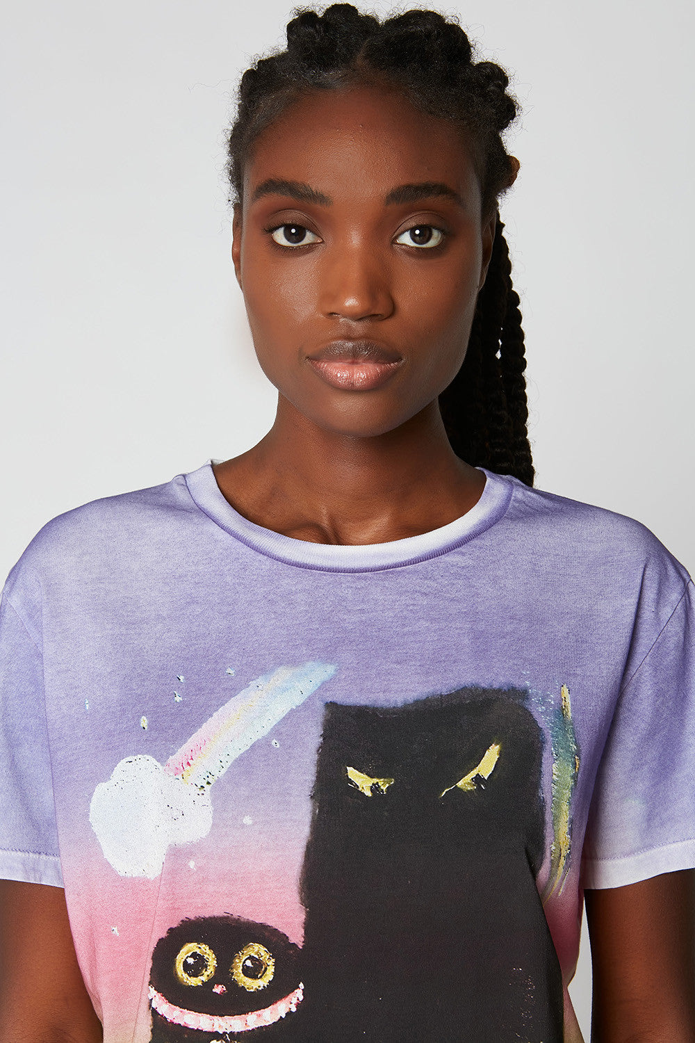 Printed tie-dye cotton T-shirt x Vanessa Stockard