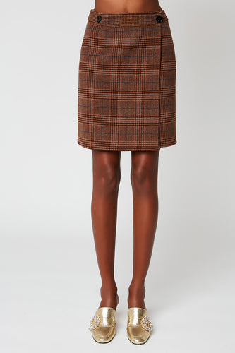 Short skirt in tartan wool