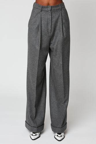Wide high waist flannel pants