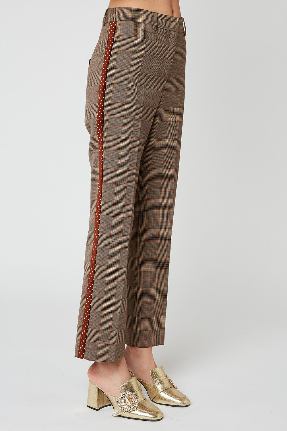 Prince of Wales flared trousers