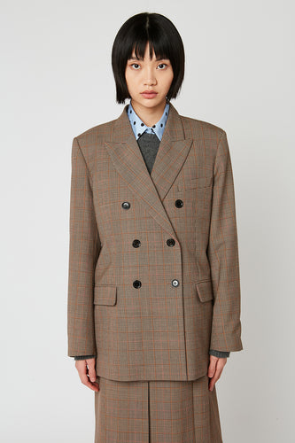 Oversized Prince of Wales checked jacket