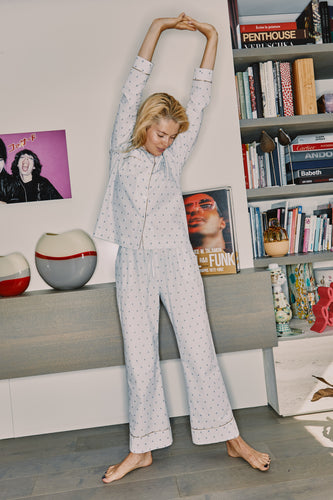 Cotton shirt and pants pyjama set