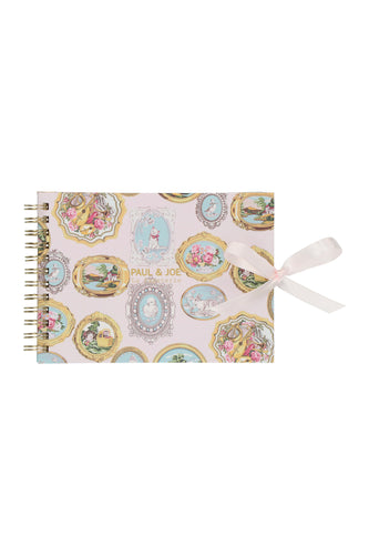Carnet de notes A6 rose motifs médaillons