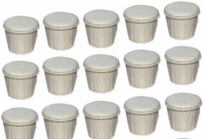 Cascarilla eggshell box with 100 pcs- Caja de cascarilla