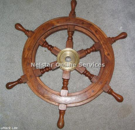 "18"" SHIP WHEEL - Nautical Shipwheel"
