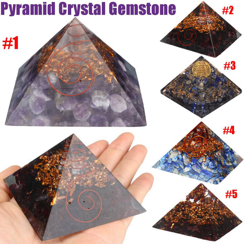 Natural Quartz Crystal Repel Evil Spirits Pyramid Gemstone Stone - Piramide de quarzo