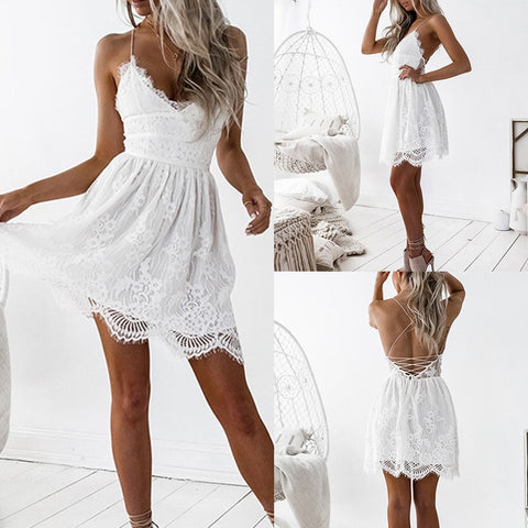 Vestido Blanco casual Casual white dress casual