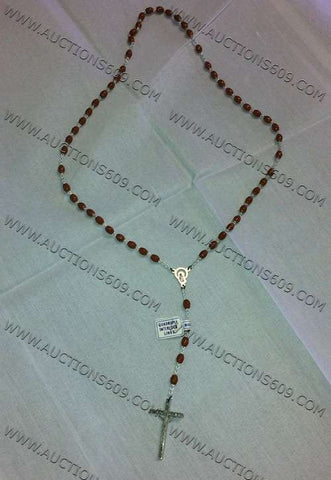 Brown religion Rosary - Rosario relgioso Marron