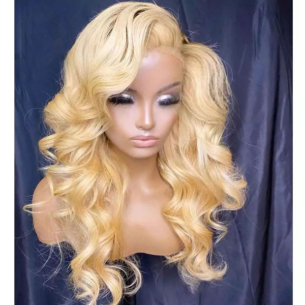 613 Blonde Lace Front Wig Body Wave Hair 150% Density T Part Lace Wig