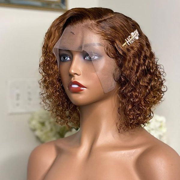 Short Curly Bob Wig 13x4 Lace Front Wig Short Human Hair Wigs With Baby Hair Pre Plucked