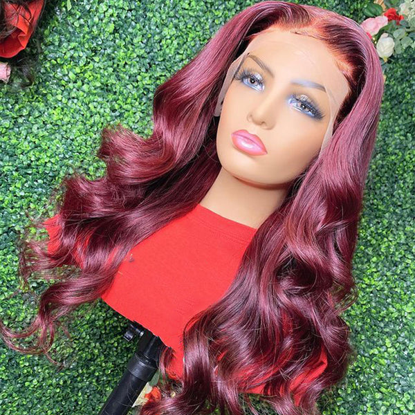 Burgundy Lace Front Wig 13x6 Red Body Wave 13x6 Lace Frontal Wig
