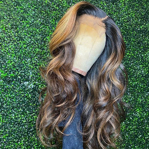 1b/27/30 Highlight Loose Wave Lace Front Wig 13x6 Lace Frontal Wig