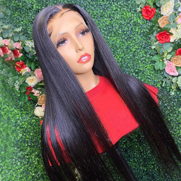 13x6 Lace Frontal Wig 150% Density Straight Transparent Lace Front Wig