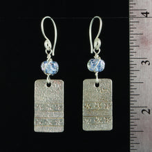 Load image into Gallery viewer, Blue Dichro Sterling Silver Earrings