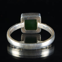 Load image into Gallery viewer, Sterling Silver and Nephrite Jade Ring, Size 12.5 US