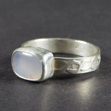 Load image into Gallery viewer, Blue Chalcedony Sterling Silver Ring: Size 8 US