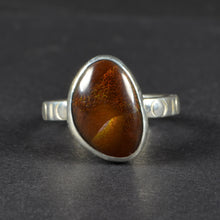 Load image into Gallery viewer, Sterling Silver Fire Agate Ring Size 8.5 US