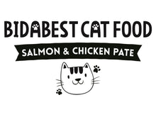 Load image into Gallery viewer, Healthy Salmon & Chicken Pate Wet Cat Food Logo