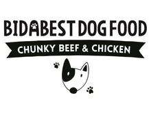 Load image into Gallery viewer, BidaBest Healthy Chunky Beef & Chicken Dog Food Logo