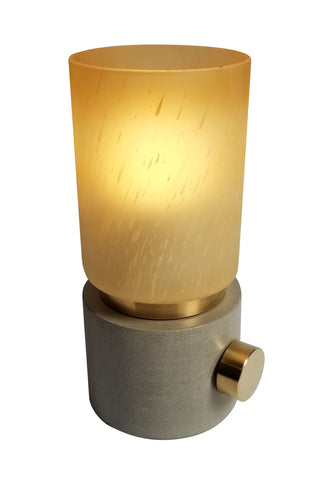 Concrete Table Lamp solid brass hardware