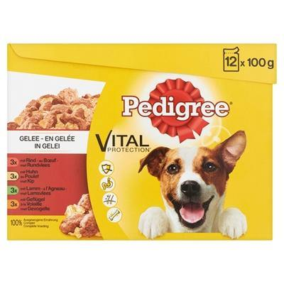 Pedigree Multipack Maaltijdzakjes Favourites In Gelei 100 GR - Dog-essentials.nl