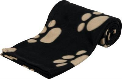 Trixie Barney Fleece Hondendeken Zwart/Beige 150X100CM - Dog-essentials.nl