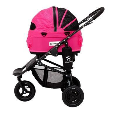 Airbuggy Hondenbuggy Dome2 Sm Met Rem Rose Roze 53X31X52 CM / 96X53,5X99 CM - Dog-essentials.nl
