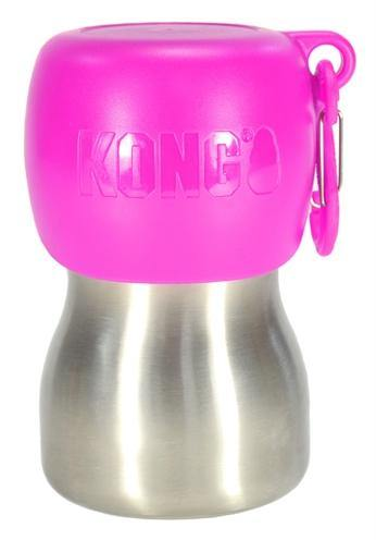 Kong H2O Drinkfles Rvs Roze - Dog-essentials.nl