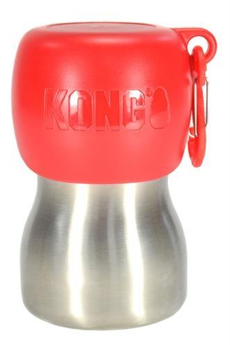 Kong H2O Drinkfles Rvs Rood - Dog-essentials.nl