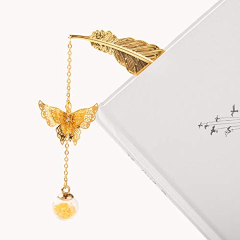Gold Feather Bookmark
