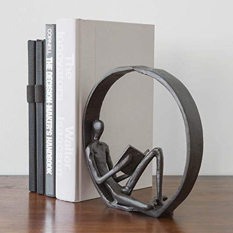 Abstract Iron Reading Sculpture