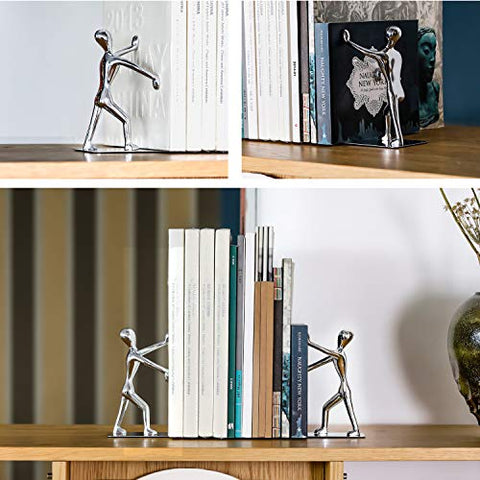Silver Man Bookends