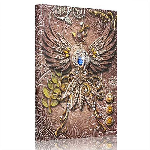 Image of Embossed Phoenix Leather Journal