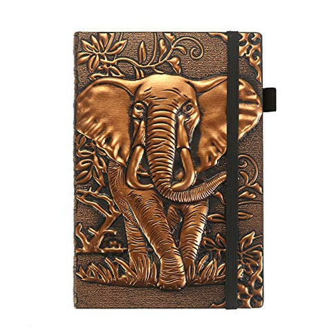 Embossed Elephant Leather Journal