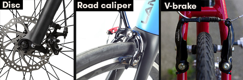 Works with disc or rim brakes