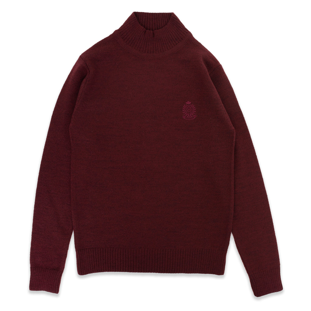 Half Turtleneck Badged Sweater