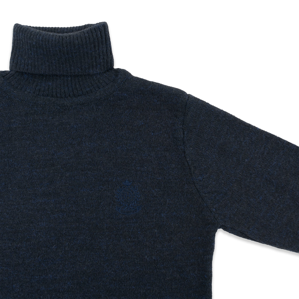 Turtleneck Badged Sweater