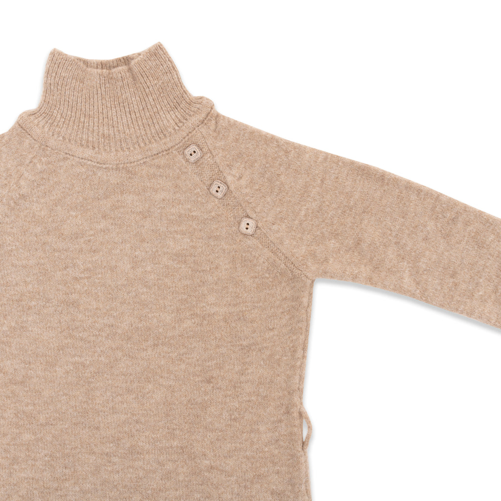 Button Detailed Half Turtleneck Sweater