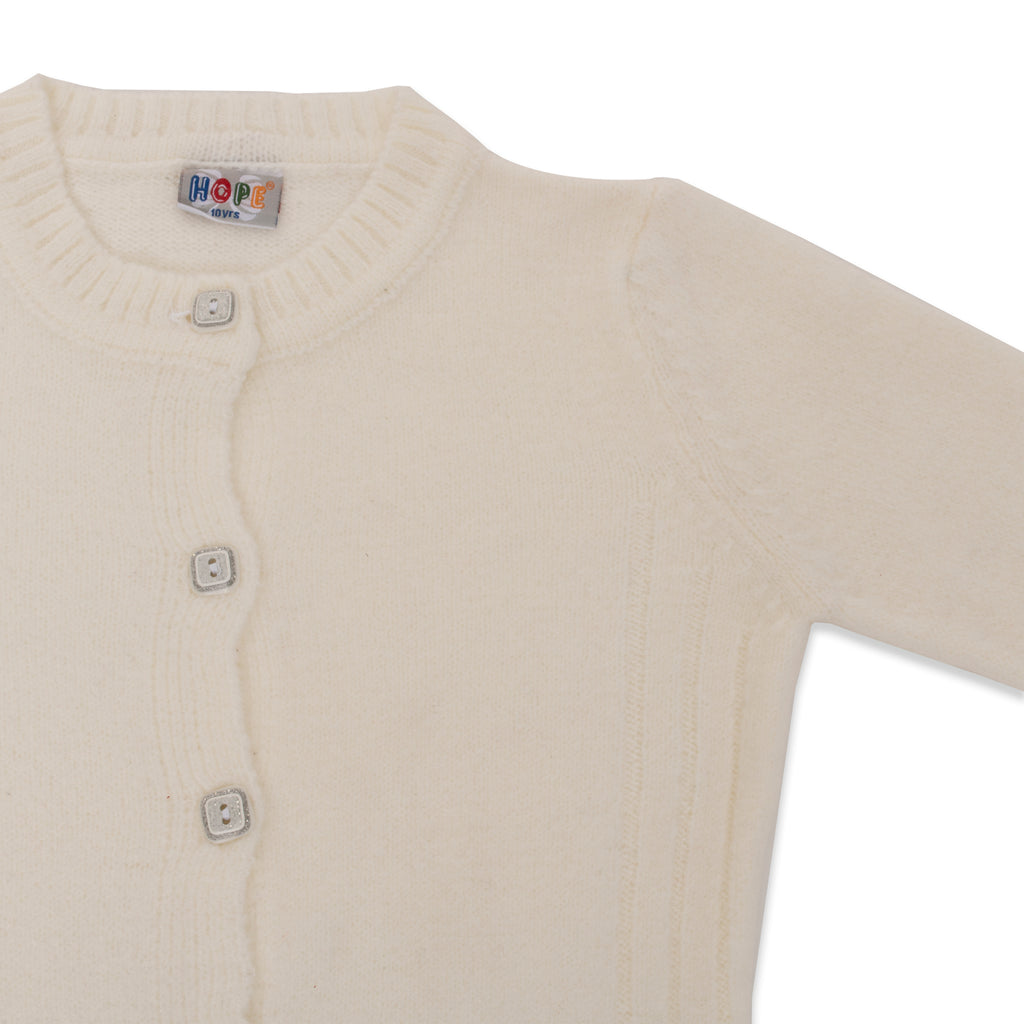 Copy of Silvery Button Knit Cardigan - HopeKids