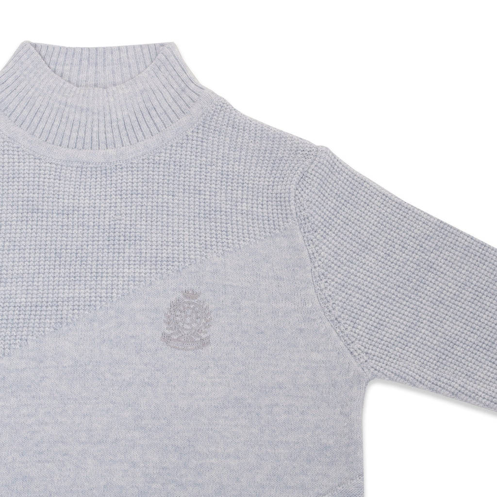 Knitted Patterned Half TurtleNeck Sweater