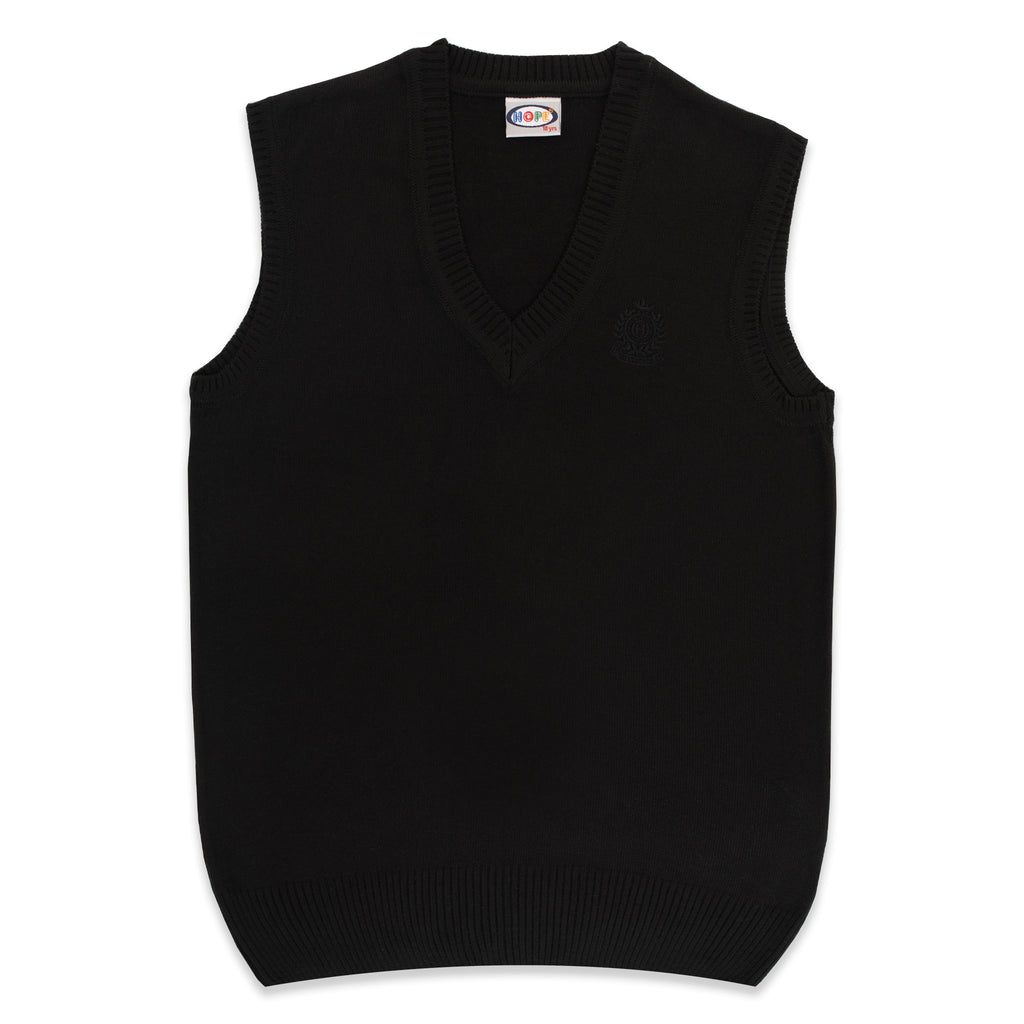 Basic Knitted V-Neck Sleeveless Sweater