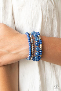 Layered Luster - Blue