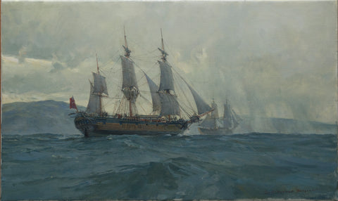 Discovery and Chatham Departing From San Francisco Bay, November 24th, 1792
