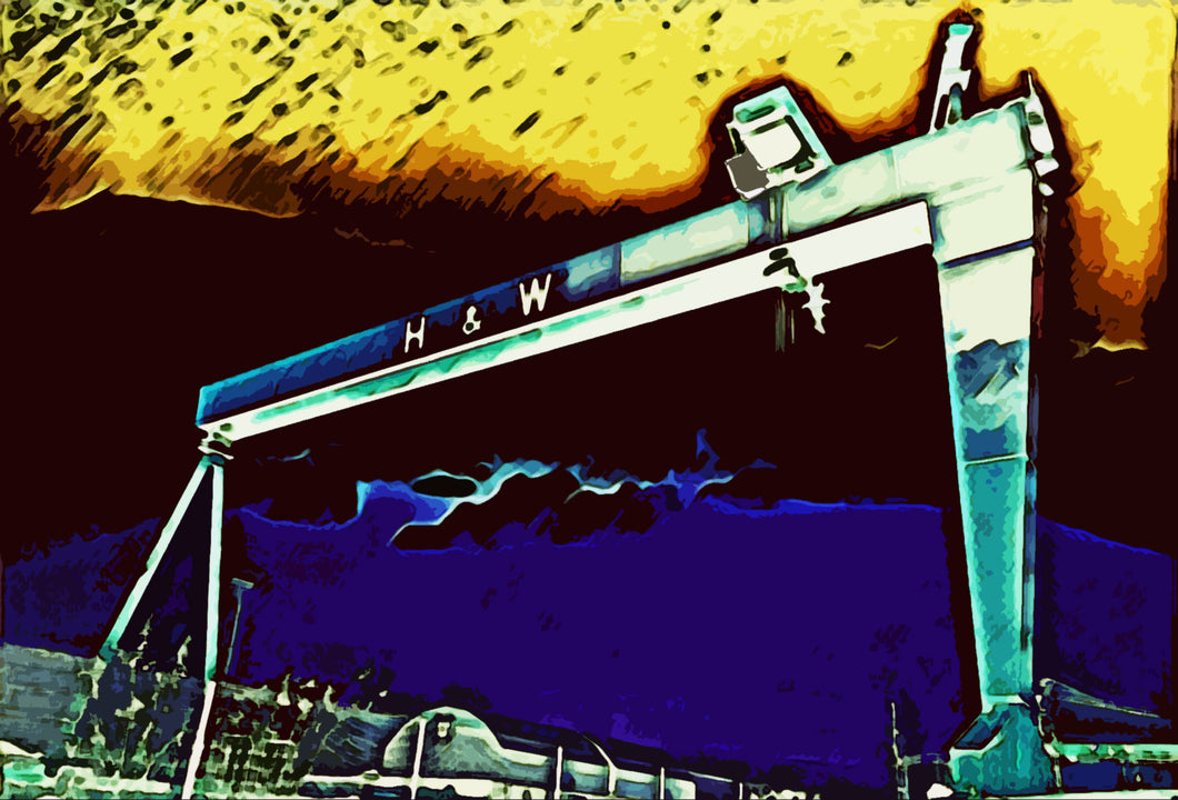 Harland & Wolff crane print - download