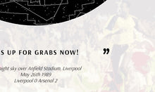 Load image into Gallery viewer, Anfield '89: Stars above Arsenal