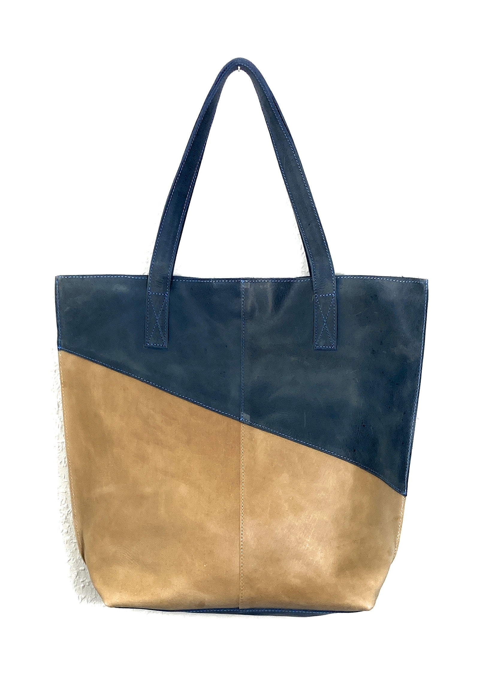 Tote Bag Square -blue-