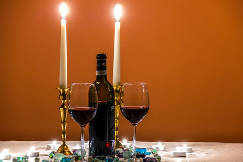 Candle holder wine table
