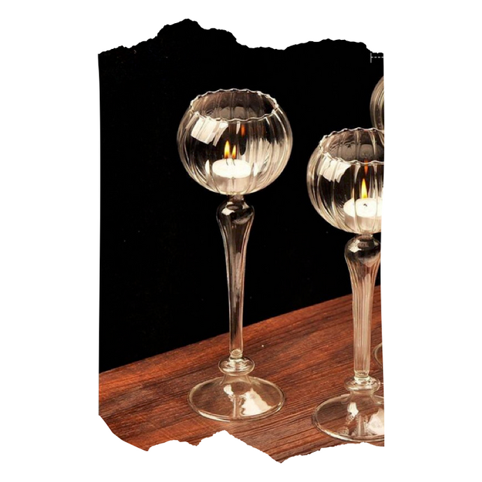 Kathy - Glass Candle Holder