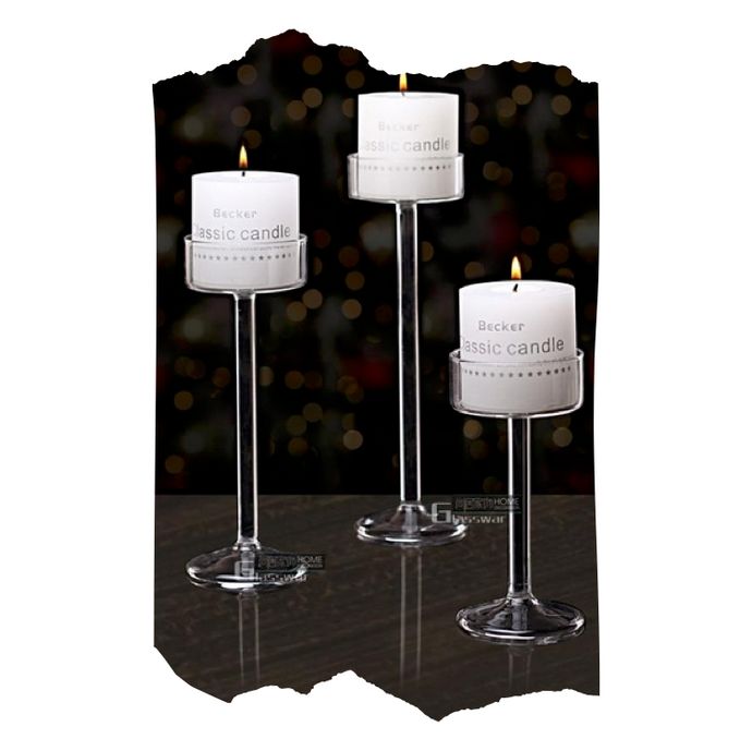 Levine - Glass Candle Holder